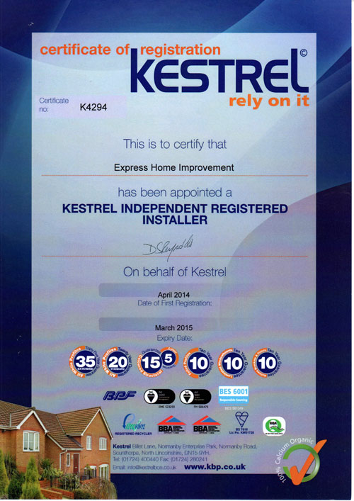 approved kestrel installer