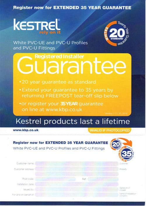 kestrel guarantee